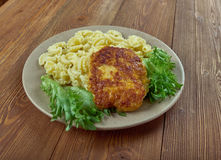 Chicken milanese Stock Photography