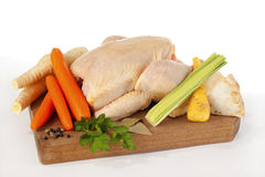 Chicken and mirepoix Stock Images