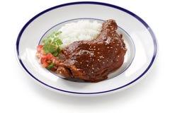 Chicken mole, mexican cuisine stock photo
