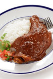 Chicken mole, mexican cuisine Stock Photos
