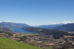 Chicken Mountain View To Lake Millstatt In Spring Royalty Free Stock Photo