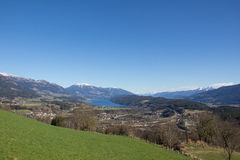 Chicken Mountain View To Lake Millstatt In Spring Royalty Free Stock Photography