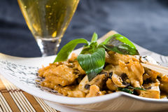 Chicken and mushroom Stock Image