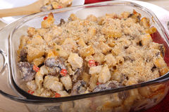 Chicken and Mushroom Casserole Royalty Free Stock Images