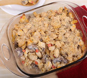 Chicken and Mushroom Casserole Royalty Free Stock Photos