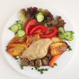 Chicken mushroom casserole meal Royalty Free Stock Photo
