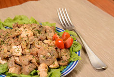 Chicken mushroom dish Stock Image
