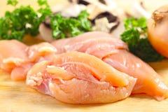 Chicken and mushroom ingredients Stock Image