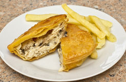 Chicken and mushroom pie Stock Images