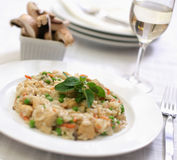 Chicken mushroom risotto Stock Photography