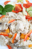 Chicken and mushroom risotto vertical Royalty Free Stock Image