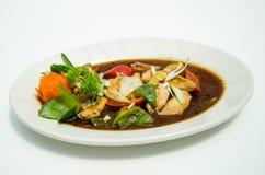Chicken mushroom soup/ chinese Stock Photo