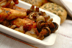 Chicken Mushrooms Stock Image