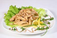 Chicken with mushrooms Stock Photos