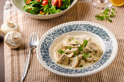 Chicken with mushrooms and cream sauce Royalty Free Stock Image