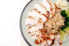 Chicken and mushrrom risotto Stock Photos