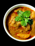 Chicken Mussaman Curry. With black background Royalty Free Stock Images