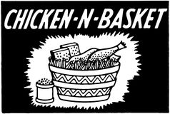 Chicken N Basket Stock Image