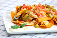 Chicken nachos Royalty Free Stock Photography