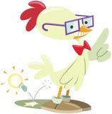 Chicken nerd Royalty Free Stock Image