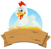 Chicken Nest And Wood Banner Stock Photos