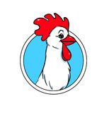 Chicken emblem Royalty Free Stock Photography