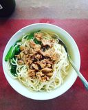 Chicken Noodle. Indonesia& x27;s most deli food Royalty Free Stock Photography