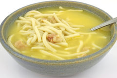 Chicken and noodle soup Stock Photos