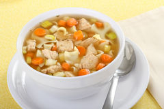 Chicken Noodle Soup royalty free stock photography