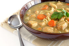 Chicken noodle soup Stock Photography