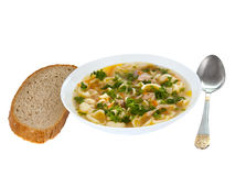 Chicken noodle soup - broth Stock Image