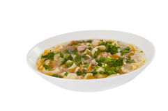Chicken noodle soup - broth Stock Photography