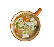 Chicken noodle soup - broth. Royalty Free Stock Photo