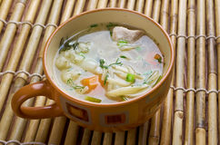 Chicken noodle soup - broth. Royalty Free Stock Photography