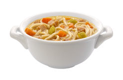 Chicken Noodle Soup (clipping path) Royalty Free Stock Images