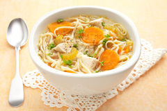 Chicken Noodle Soup Horizontal Royalty Free Stock Image
