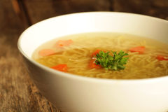 Chicken and noodle soup Royalty Free Stock Photos