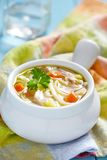 Chicken noodle soup Stock Images