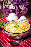 Chicken noodle soup. Stock Photo