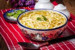 Chicken noodle soup. Stock Photos