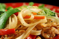 Chicken Noodle Stirfry Royalty Free Stock Images