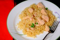 Chicken And Noodles Royalty Free Stock Photos