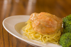 Chicken and Noodles Royalty Free Stock Photo