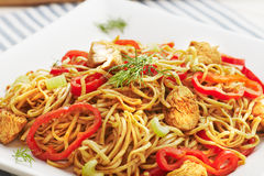 Chicken noodles Royalty Free Stock Photo