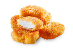 Chicken nugets isolated. With clipping path Royalty Free Stock Images