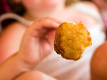 Chicken Nugget. Typically unhealthy junk food aimed at kids Royalty Free Stock Photo