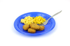 Chicken nugget meal Royalty Free Stock Image
