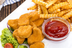 Chicken Nuggets (with Chips) Stock Image
