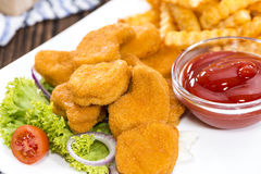 Chicken Nuggets (with Chips) Royalty Free Stock Image