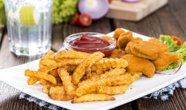Chicken Nuggets (with Chips) Stock Images